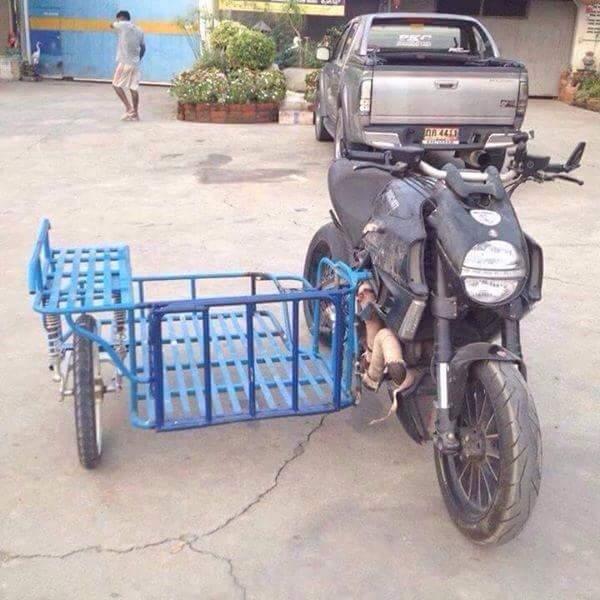 Modif Motor Bebek Jadi Gerobak