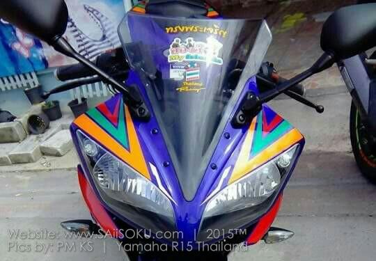 Modifikasi Yamaha R15 Warna Warni Rame Warnanya