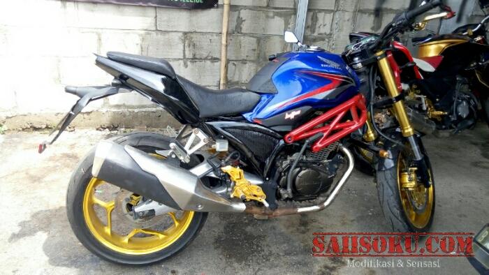 Honda Verza Menggunakan Knalpot Kawasaki Ninja 250 Fi